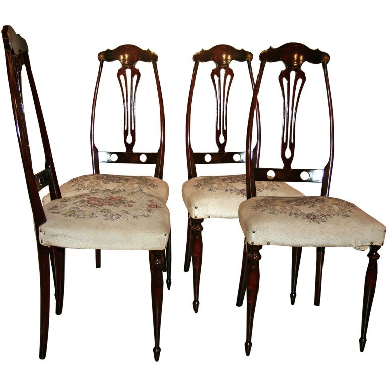 Italian Game Table Chairs
