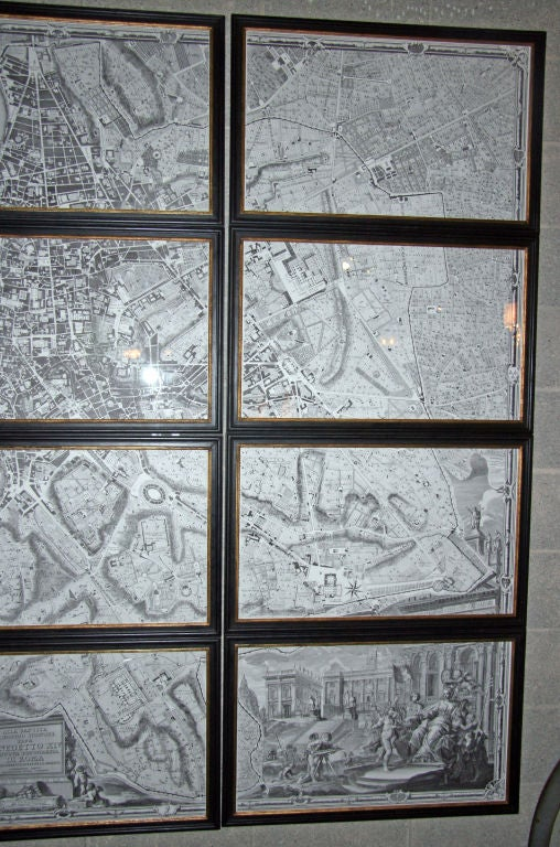 Archival Pigment Print Map of Rome 1