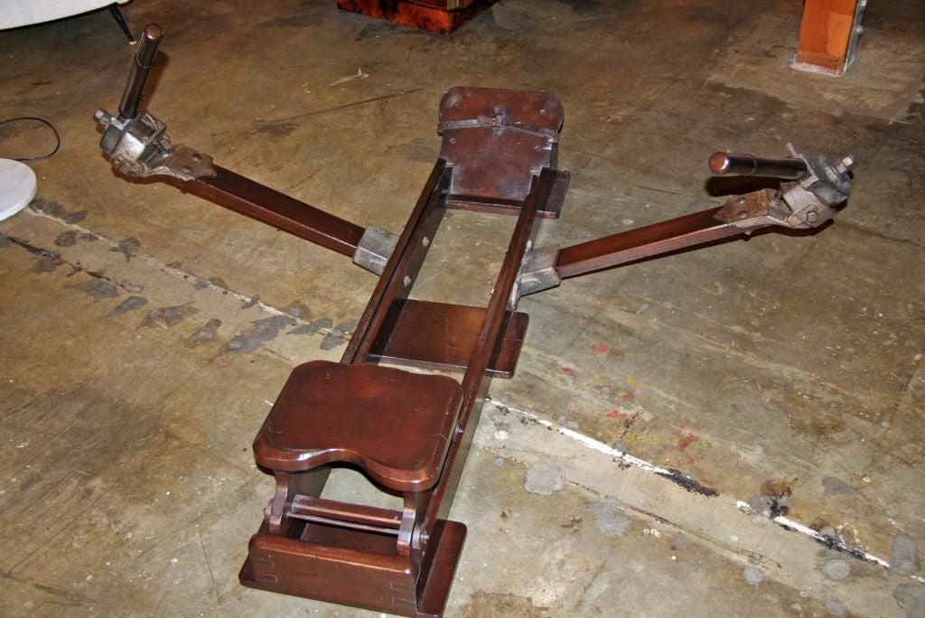 Italian Wood Rowing Machine For Sale 1