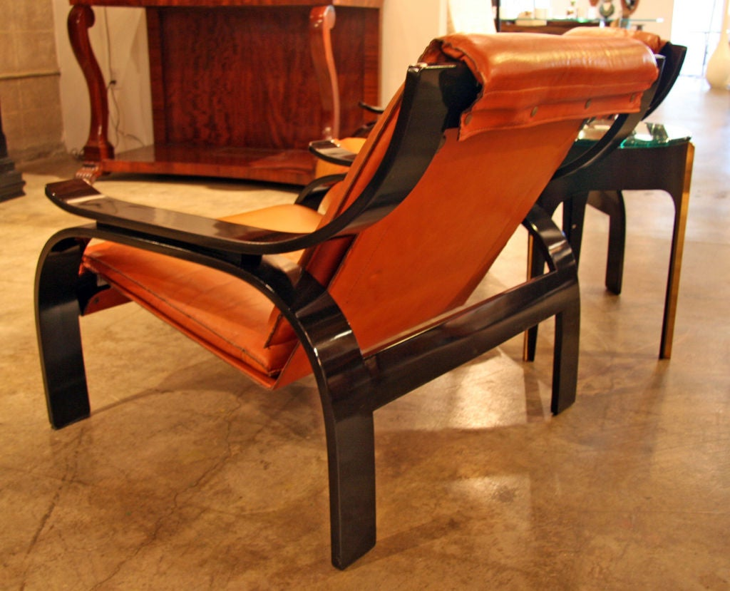Pair of Marco Zanuso Armchairs in Leather for Arflex In Excellent Condition For Sale In Los Angeles, CA