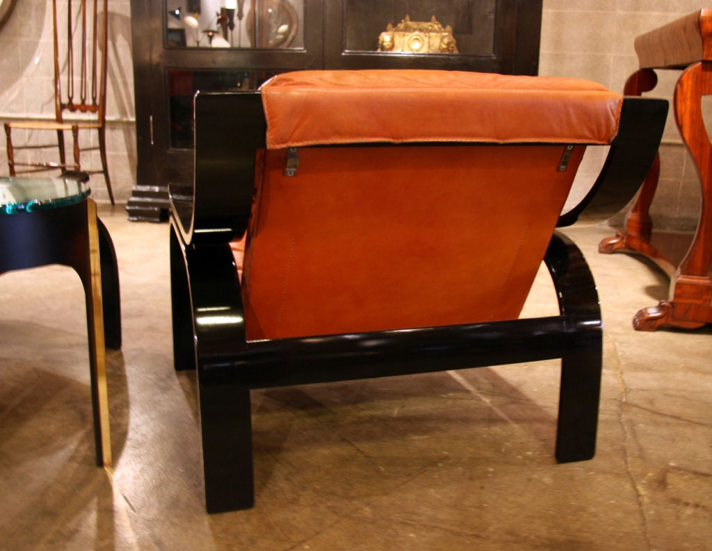 Mid-20th Century Pair of Marco Zanuso Armchairs in Leather for Arflex For Sale