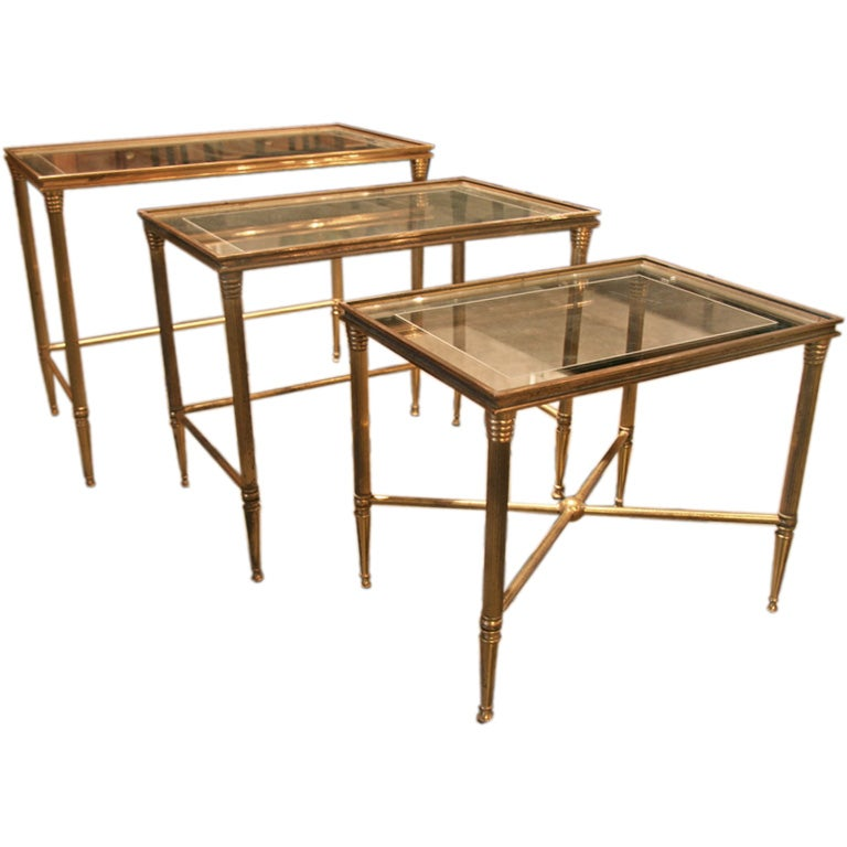 Stackable Nesting Tables ~ Stacking nesting tables at stdibs