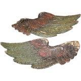 Pair of Italian Wood Carved Angel Wings