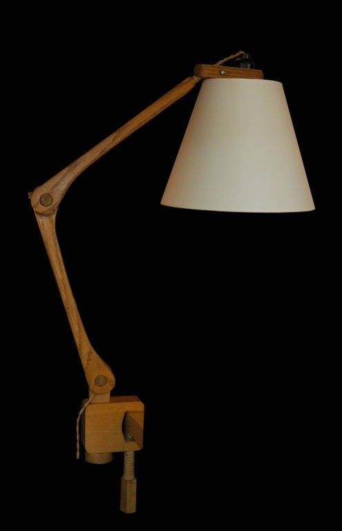 Swedish Clamp Table Lamp At 1stdibs