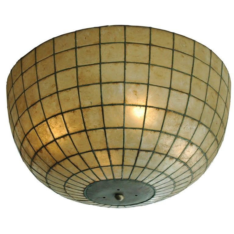 large capiz shell ceiling fixture at 1stdibs ForShell Ceiling Light Fixtures