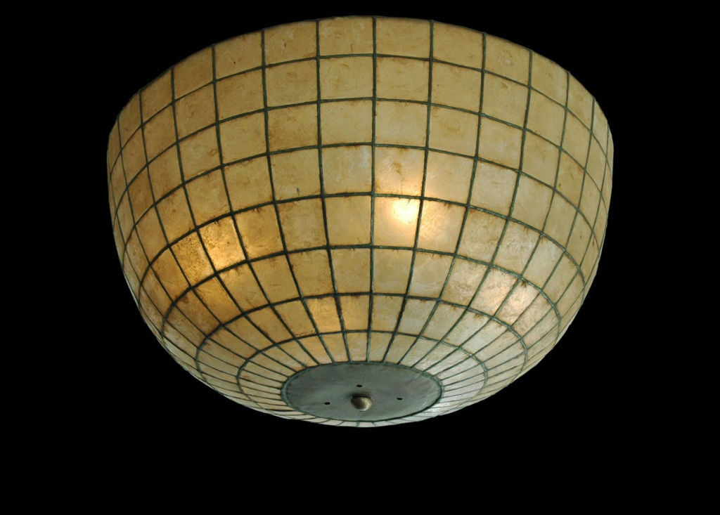 large capiz shell ceiling fixture at 1stdibs
