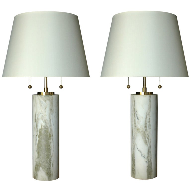 this pair of carrera marble table lamps is no longer available. Black Bedroom Furniture Sets. Home Design Ideas