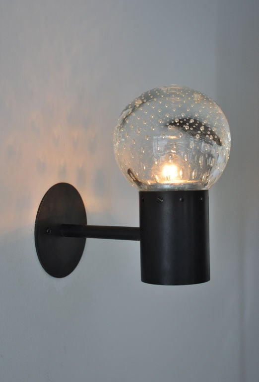 Wall Sconce Glass Globes : Arteluce Glass Globe Wall Sconces at 1stdibs