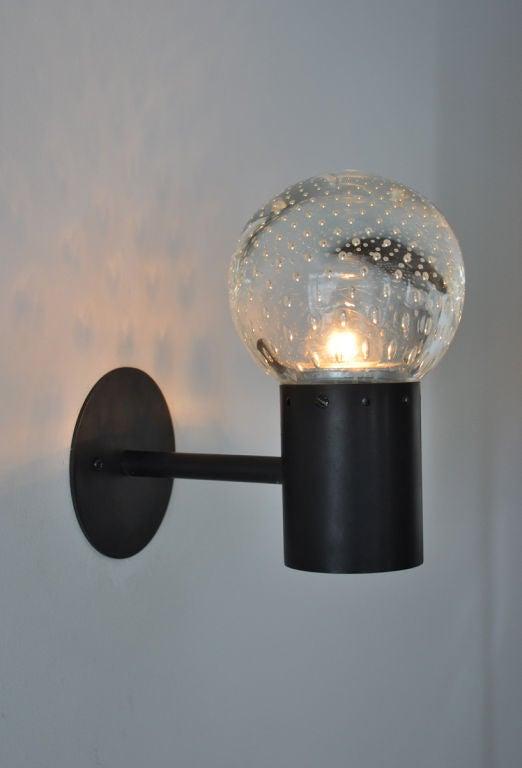 Arteluce Glass Globe Wall Sconces at 1stdibs