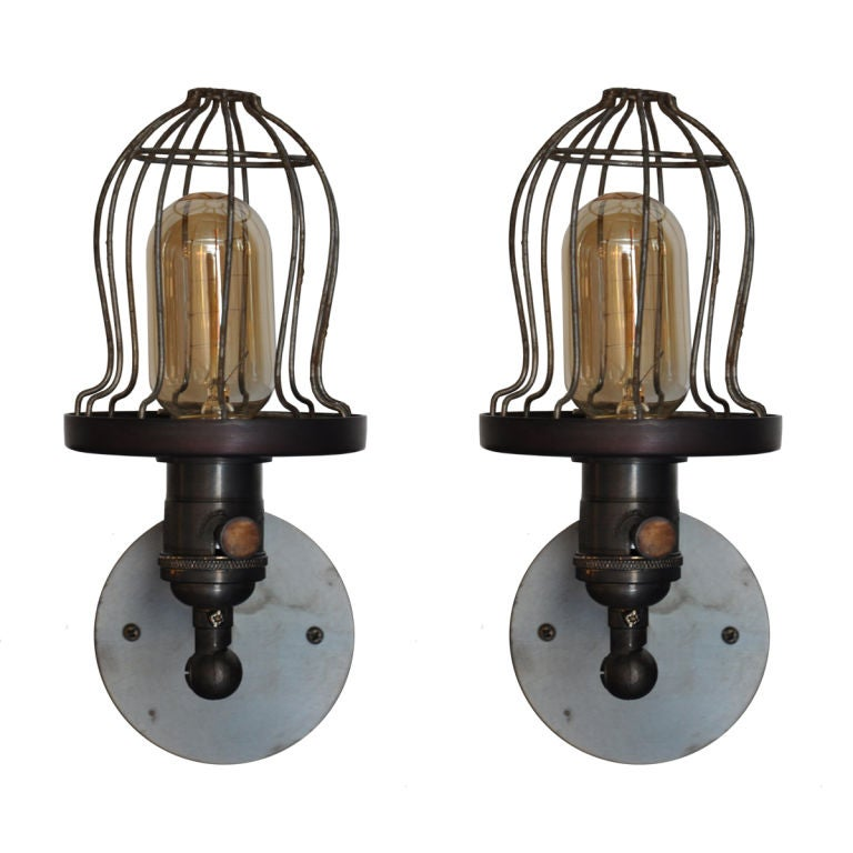 Wall Sconce With Cage : Cage Sconces at 1stdibs