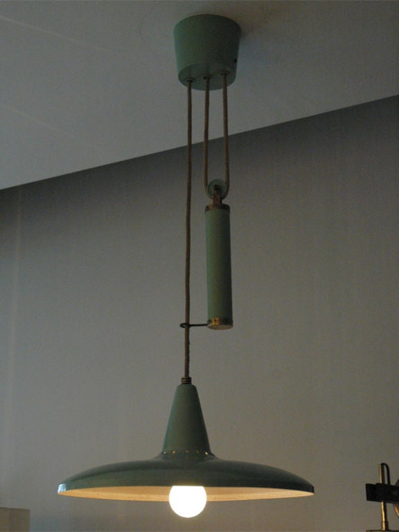Stilnovo Pulley Hanging Fixture At 1stdibs