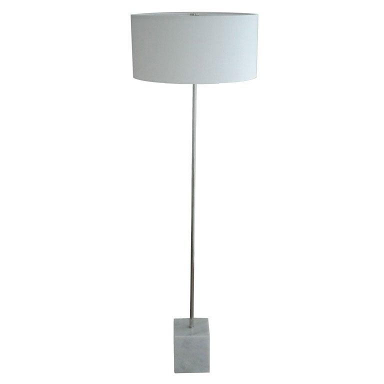 laurel marble base floor lamp at 1stdibs. Black Bedroom Furniture Sets. Home Design Ideas