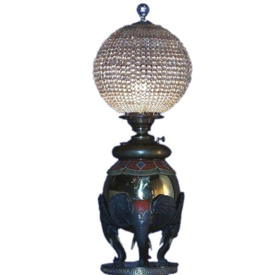 Unusual bronze elephant base lamp at 1stdibs for Table lamp elephant base