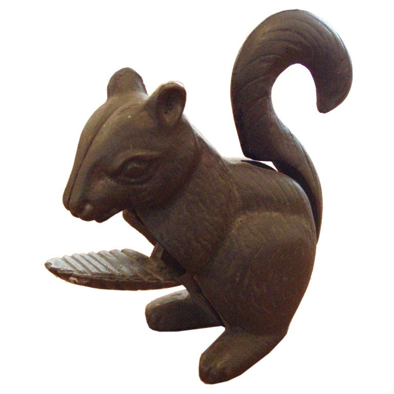 Hubley Cast Iron Squirrel Nut Cracker At 1stdibs