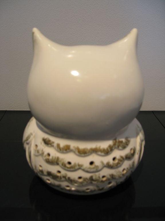 White Ceramic Owl Figurine At 1stdibs
