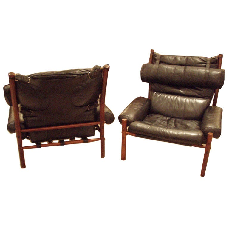 Pair of Arne Norell Safari Chairs at 1stdibs