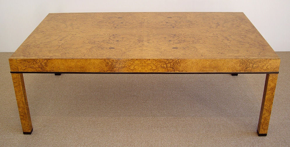 Baker Furniture Company   Olive Ash Burl Wood Coffee Table 2. Baker Furniture Company   Olive Ash Burl Wood Coffee Table at 1stdibs