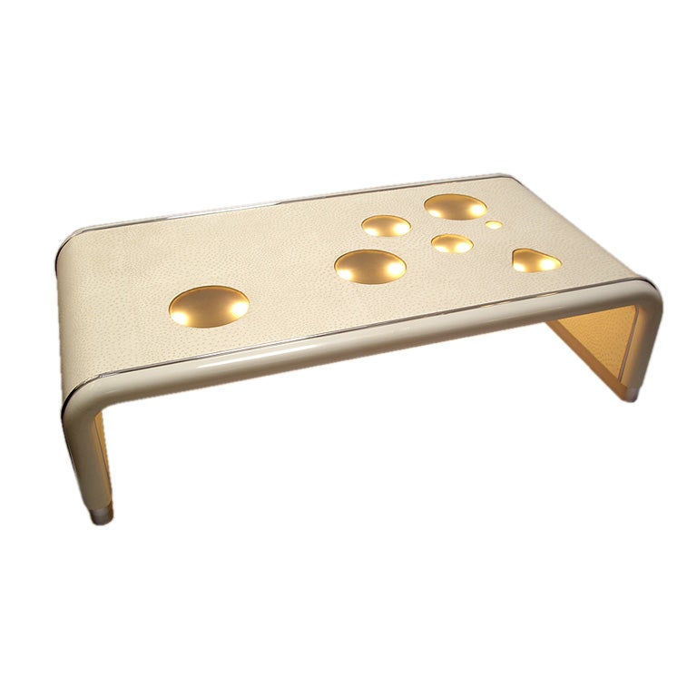 Arthur Elrod 1926 1974 Custom Illuminated Coffee Table At 1stdibs