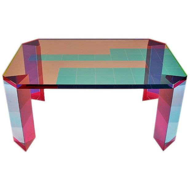 Vasa (1933-) Luminous Acrylic Coffee Table 1 - Vasa (1933-) Luminous Acrylic Coffee Table At 1stdibs