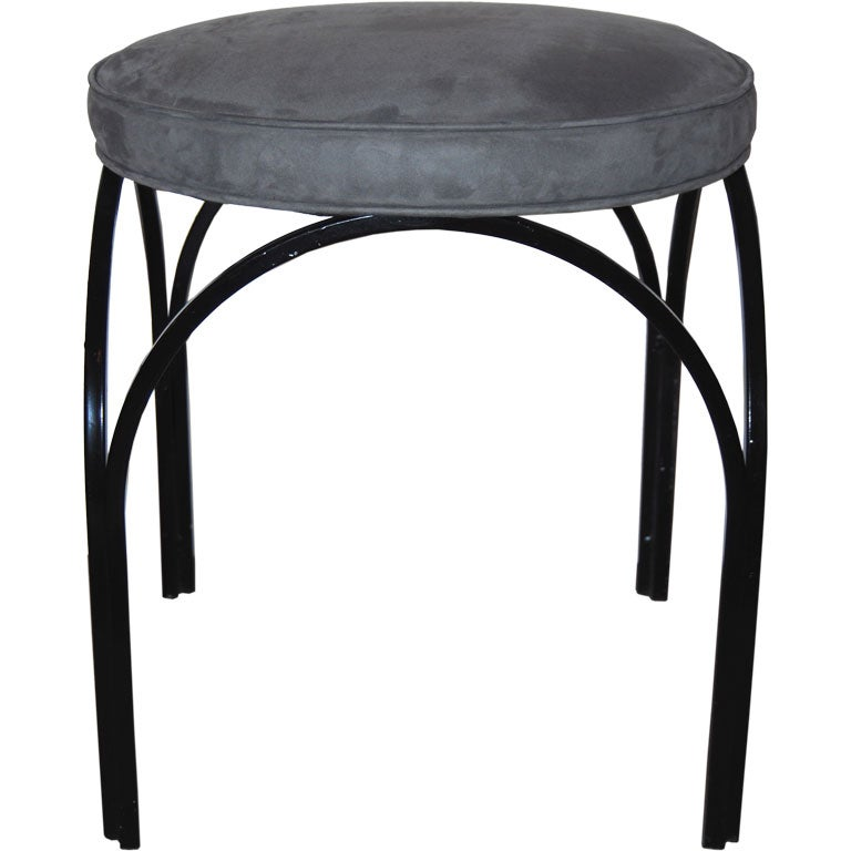Frederic Weinberg Arched Iron Stool At 1stdibs