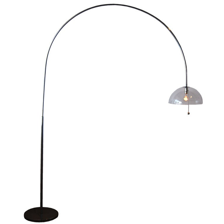 charles hollis jones arched edison floor lamp at 1stdibs. Black Bedroom Furniture Sets. Home Design Ideas