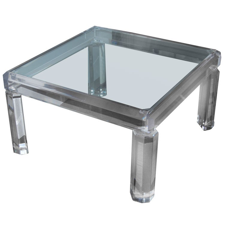 Faceted Acrylic Cocktail Table At 1stdibs