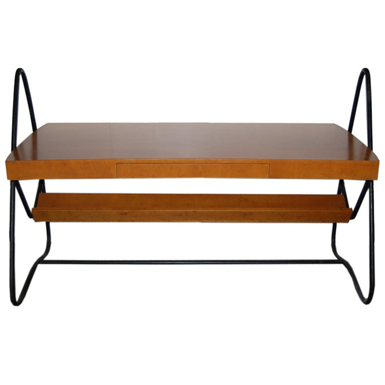 Jean Royère desk, 1940s, offered by Malmaison