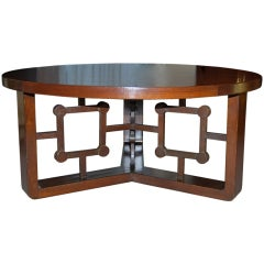 Jean Royère African Mahogany Cocktail Table
