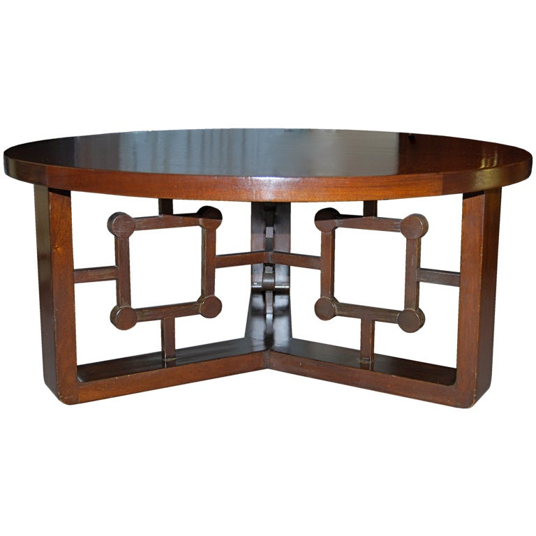 Jean Roy Re African Mahogany Cocktail Table For Sale At 1stdibs