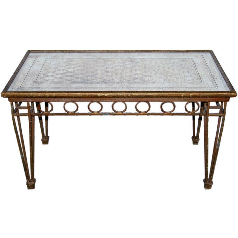 French Gilt Coffee Table With Mirrored Top At 1stdibs