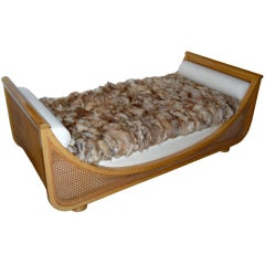 "Jean Royere Caned ""Gondola"" Daybed"