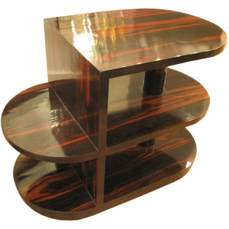 unique macassar ebony side table bookcase at 1stdibs antique round bookcase side table chairish