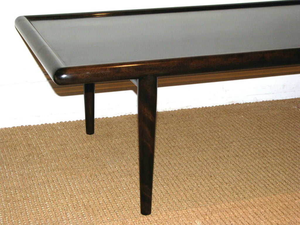 A Long T H Robsjohn Gibbings Wooden Coffee Table At 1stdibs