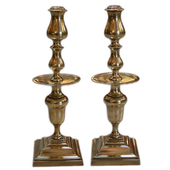 A boldly scaled pair of dutch baroque style brass for Dutch baroque architecture