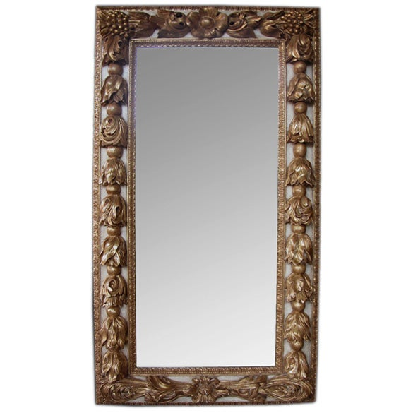 A large scaled and deeply carved continental baroque style for Rectangular baroque mirror