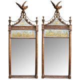 An Elegant Pair of English Edwardian Giltwood Mirrors