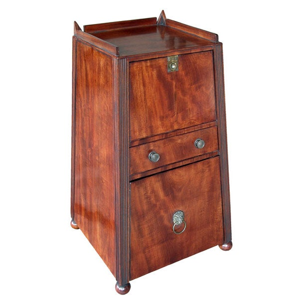 kitchen cabinet furniture an regency mahogany pyramid form 2 drawer cabinet 2517