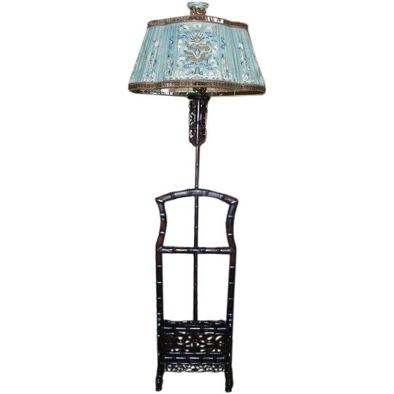 Asian floor lamp at 1stdibs for Oriental wood floor lamp