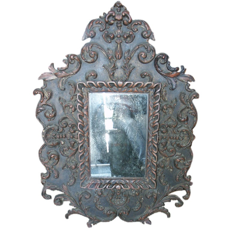 Ornate antique spanish style mirror at 1stdibs for Antique style wall mirror