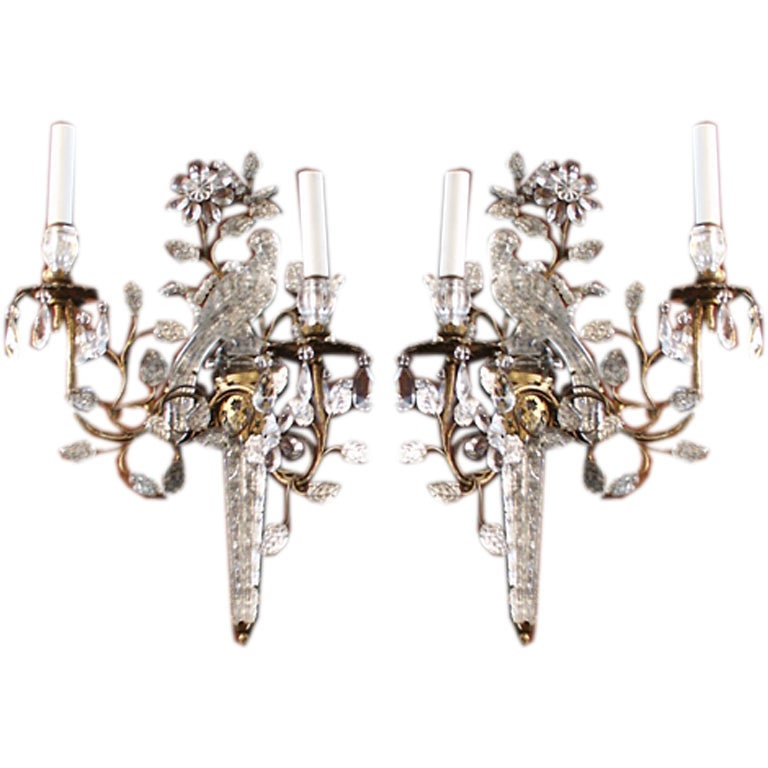 Wall Sconces With Birds : Pair of Bird Wall Sconces at 1stdibs