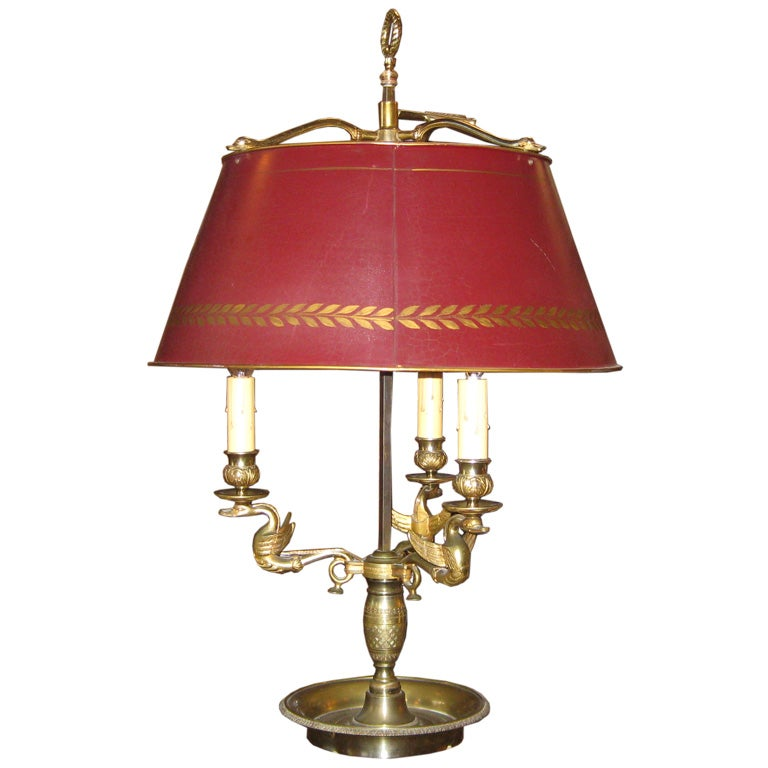 Red Tole Bouillotte Lamp At 1stdibs