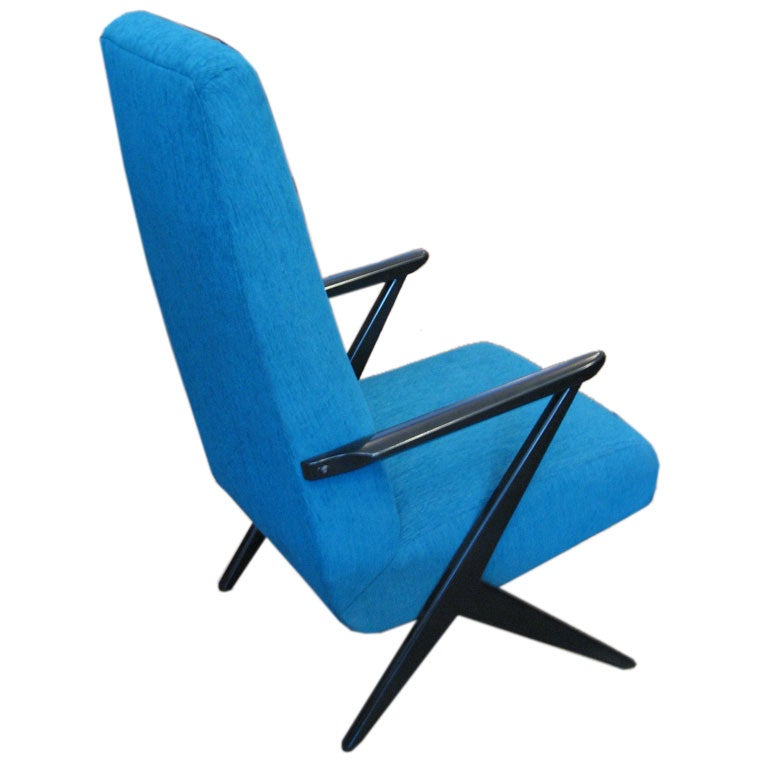 Swedish mid century modern armchair at 1stdibs for Mid century modern armchairs