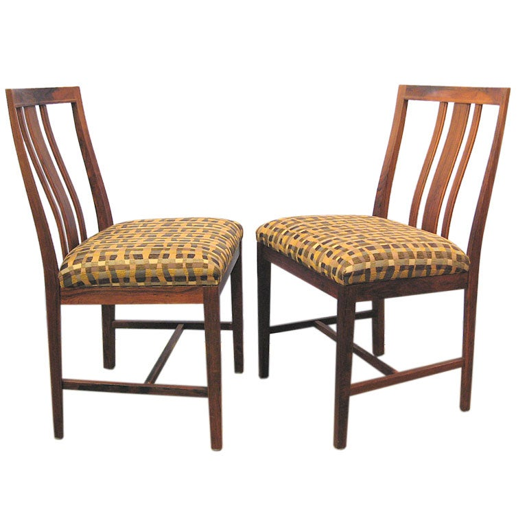 Set Of 6 Mid Century Modern Rosewood Dining Chairs B
