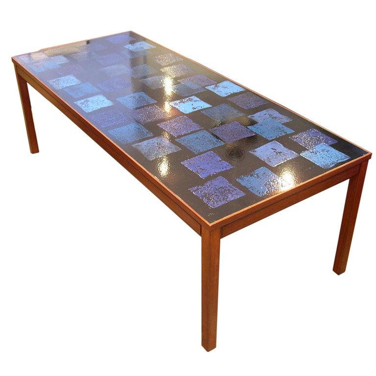 Enamel Tray Coffee Table: Enamel Top Coffee Table-David Rosen For NK At 1stdibs