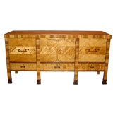 Swedish Art Deco Sideboard in Flame Birch and Rosewood