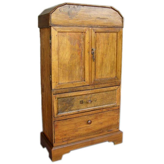 Small cipres wood cabinet with key at stdibs