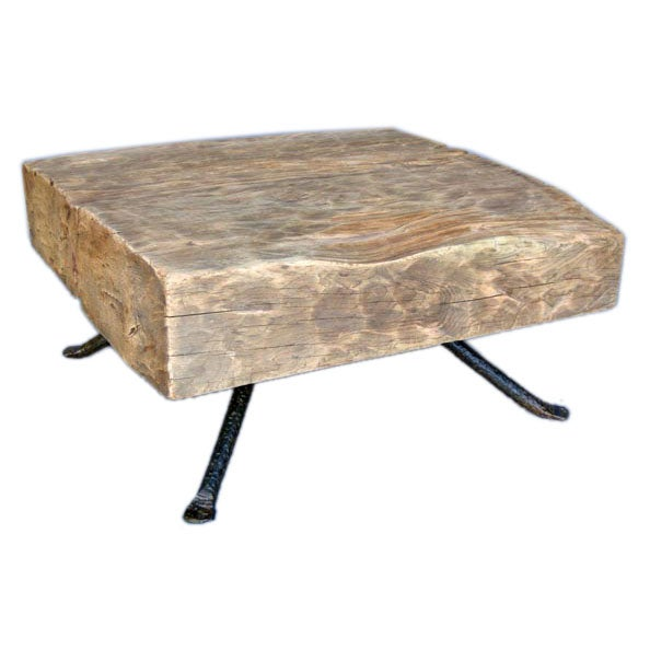 reclaimed tropical wood coffee table at 1stdibs. Black Bedroom Furniture Sets. Home Design Ideas