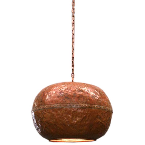 19th C Copper Vessel Ceiling Light At 1stdibs