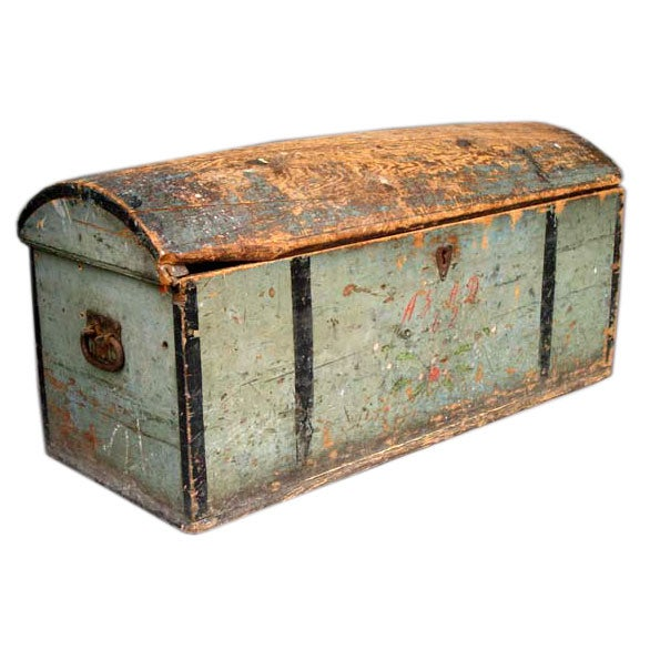 19th Century Norweigian Travelling Chest