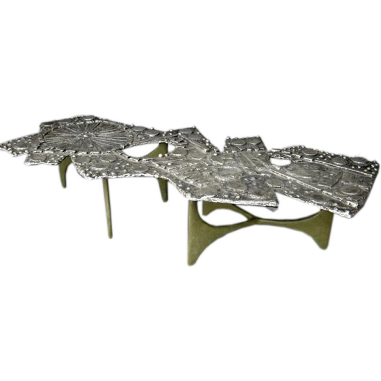 Mid 20th Century Donald Drumm Cast Aluminum Coffee Table At 1stdibs